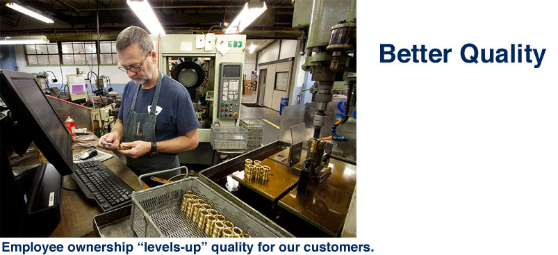 "Employee ownership ""levels-up"" Quality for our customers"